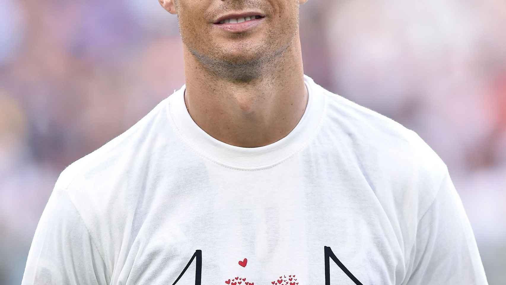 Cristiano Ronaldo en el partido ante el Parma.