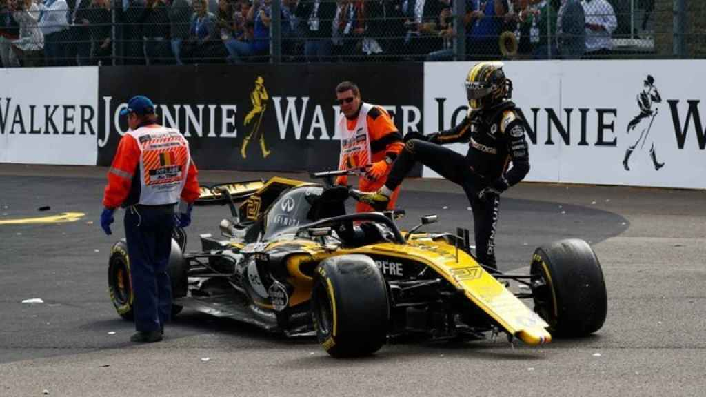 Nico Hulkenberg tras el accidente en Spa