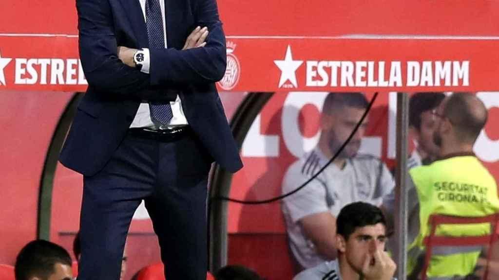Lopetegui, en el banquillo del Real Madrid contra el Girona
