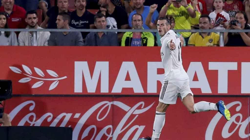 Gareth Bale celebra su gol ante el Girona