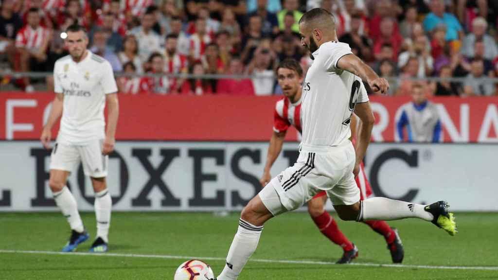 Karim Benzema, marca al Girona de penalti