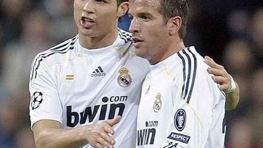 Van der Vaart y Cristiano en un partido del Real Madrid. Foto: Instagram (@rafaelvdvaart)