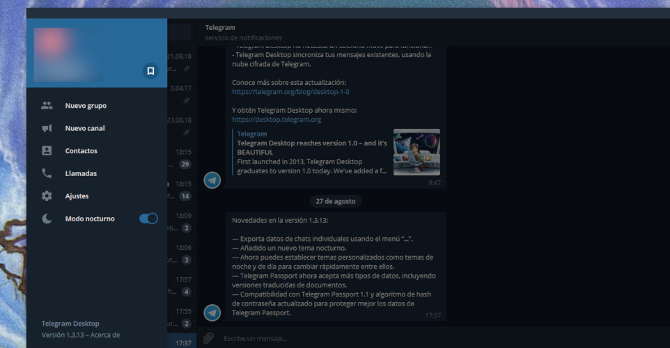 telegram modo nocturno 3
