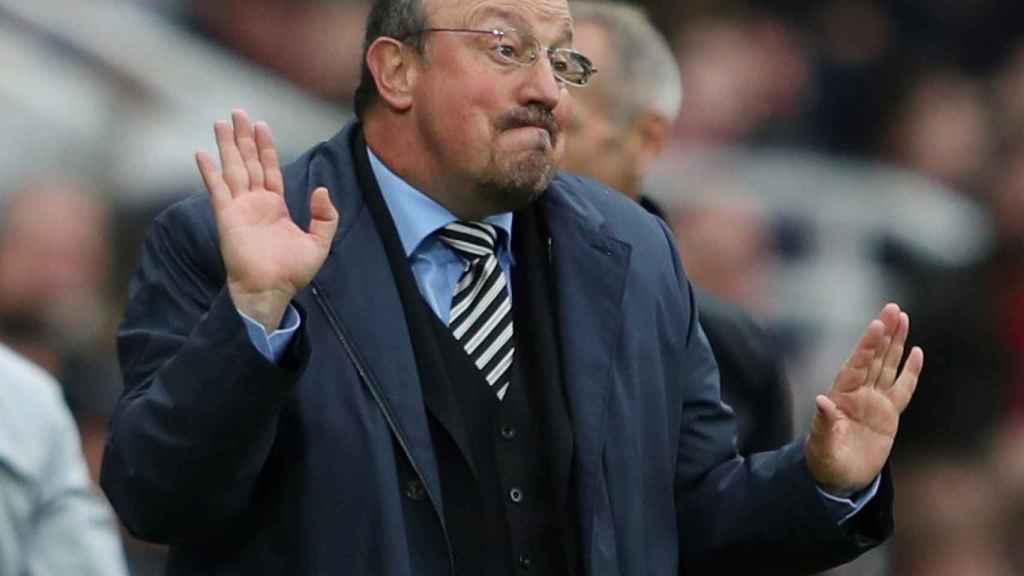 Benítez, en el partido entre el Newcastle y el Chelsea.