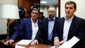 Rivera, Girauta y Prendes presentan la proposición no de ley para apoyar a Llarena.