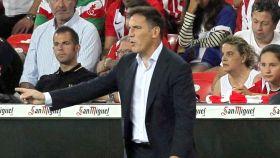 Berizzo en el partido ante el Huesca
