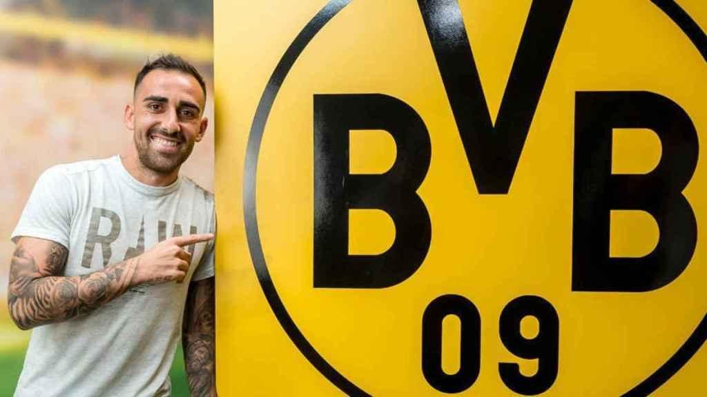 Paco Alcácer, nuevo jugador del Borussia Dortmund. Foto: Twitter (@BVB)