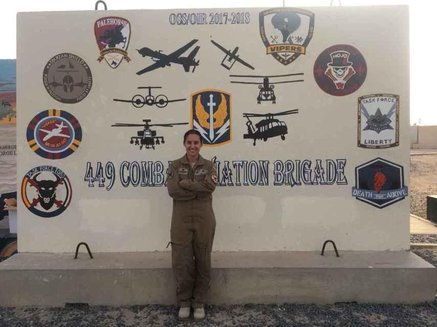 La comandante Gala Gallego, en Irak.