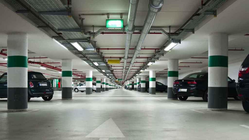 'Parking' Aena en Málaga, imagen de archivo.
