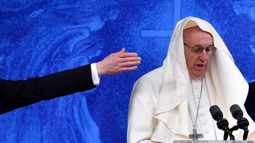 El papa Francisco, durante una conferencia de prensa.