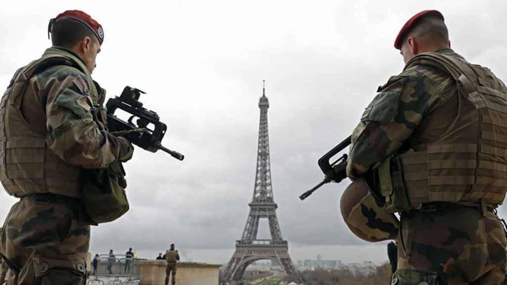 Militares en Francia.