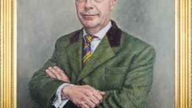 El retrato de Nigel Farage, obra del pintor británico David Griffiths.