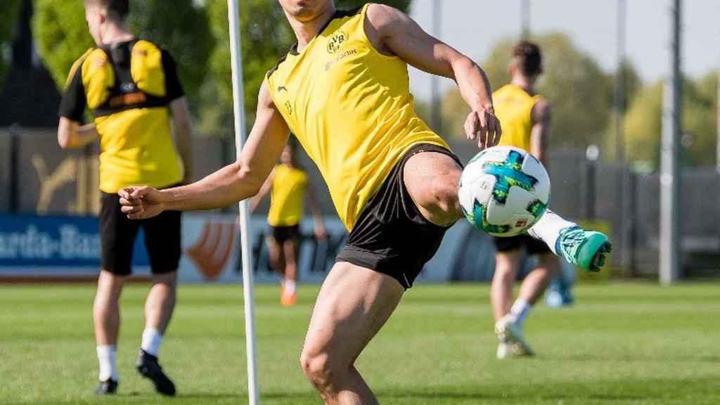Kagawa entrenando con el Borussia Dortmund. Foto: Instagram (@sk23.10)