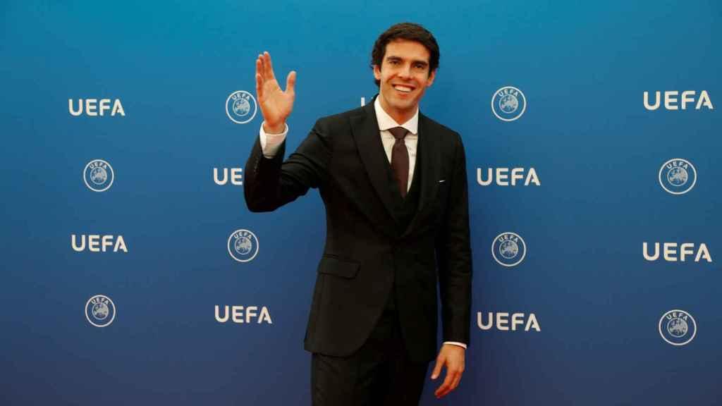 Kaká en la ceremonia de sorteo de la fase de grupos de la Champions League