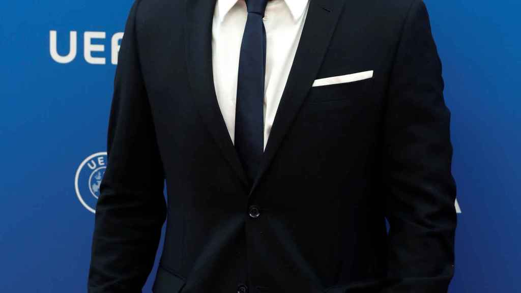Francesco Totti en la ceremonia de sorteo de la fase de grupos de la Champions League