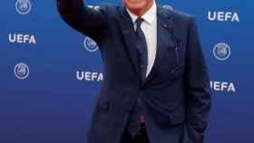 Jean-Michel Aulas en la ceremonia de sorteo de la fase de grupos de la Champions League