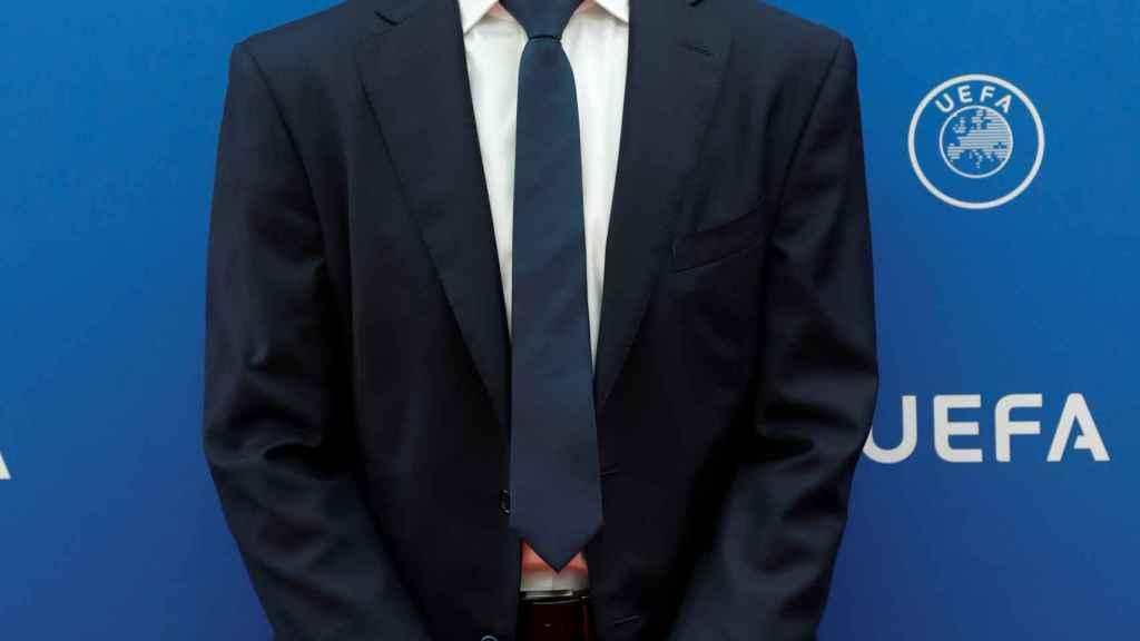 Aleksander Ceferin en la ceremonia de sorteo de la fase de grupos de la Champions League