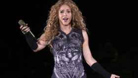 Shakira durante su último concierto en Nueva York.