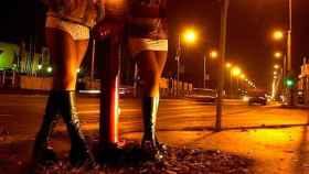 Prostitutas en la calle.