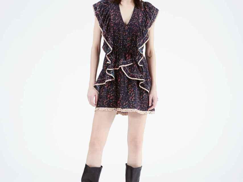 Vestido modelo 'Jicka' de la firma 'Iro Paris' que ha lucido Sara Carbonero en sus redes sociales.