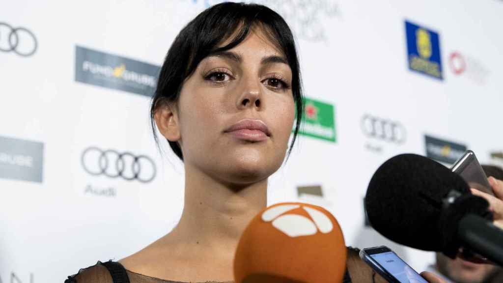 Georgina Rodríguez en un evento en Gran Canaria.