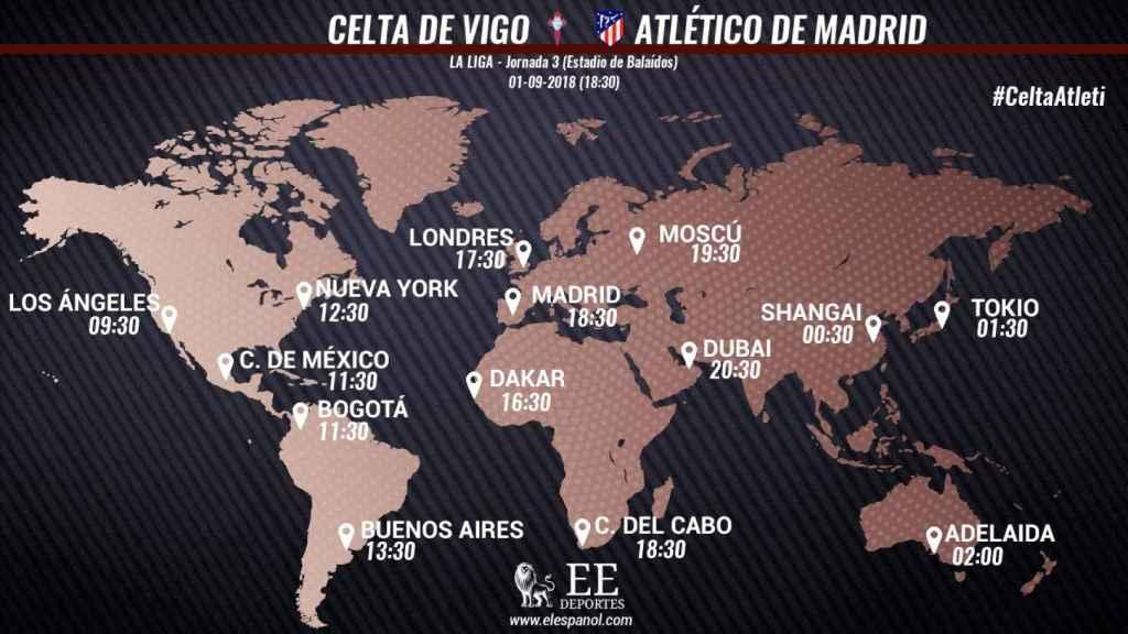 Horario del Celta - Atlético
