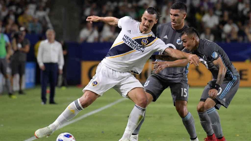 Ibrahimovic, en un partido con Los Angeles Galaxy.