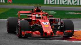 Sebastian Vettel en el segundo libre del Gran Premio de Italia. Foto: formula1.com