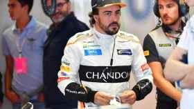 Fernando Alonso, en el Gran Premio de Italia de Fórmula 1
