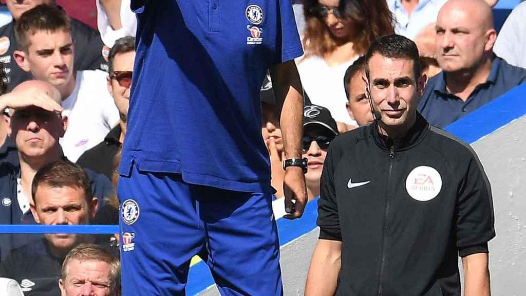 Maurizio Sarri, entrenador del Chelsea, en el partido ante el Bournemouth