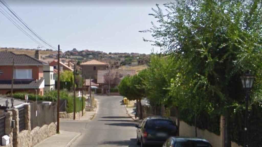 La calle en la que vivía Ramón Steven en El Casar.