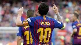 Messi en un reciente partido de la La Liga