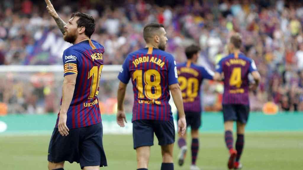Messi en un partido del Fútbol Club Barcelona