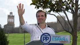 Pablo Casado, este domingo en Ávila.