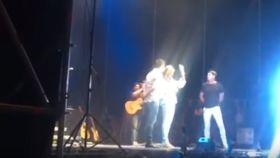 La madre de Diana Quer, en el concierto de Andy y Lucas.