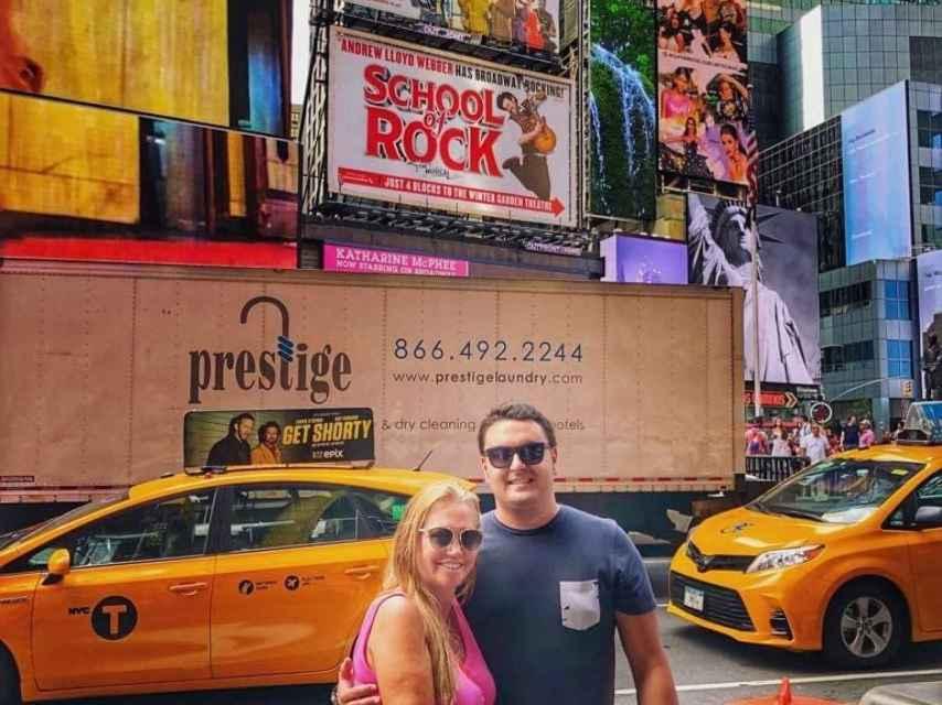 Belén y Miguel en las calles de Nueva York.