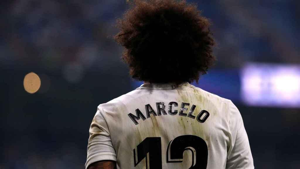 Marcelo durante el partido que disputó el Real Madrid ante el Leganés