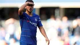 Hazard durante el partido que disputó con el Chelsea ante el Bournemouth