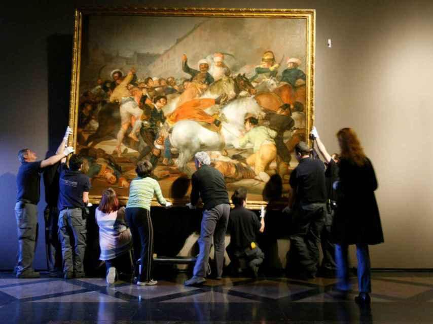 La carga de los Mamelucos, en el Museo Nacional del Prado. EFE.