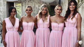 Las cinco damas de honor de Chiara Ferragni.
