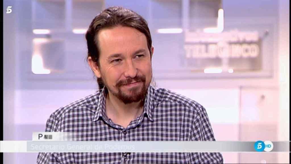 Pablo Iglesias durante la entrevista.