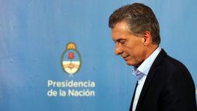 El presidente argentino, Mauricio Macri, durante su comparecencia en la residencia presidencial.