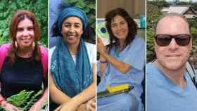 Los cuatro fallecidos: Juana Jiménez, María Belén Jiménez, María Victoria Aláez y Sebastian Giordani