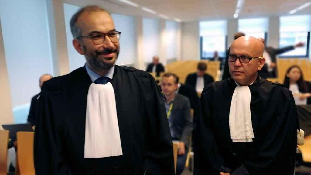 Los abogados de Llarena, Hakim Bourlabah, y de Puigdemont, Gonzalo Boye