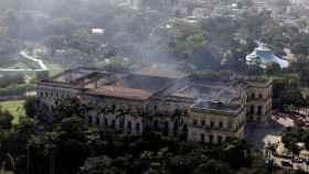 Estado en el que ha quedado el Museo Nacional de Río de Janeiro tras el incendio.