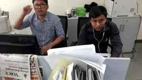 Los periodistas Wa Lone y Kyaw Soe Oo, condenados por Birmania.