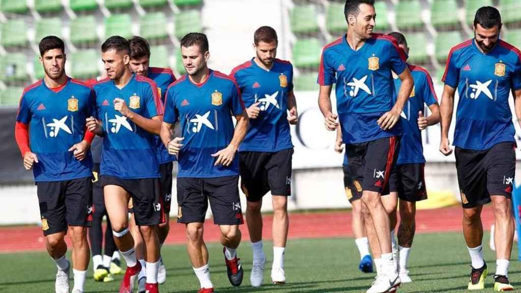 La Selección se entrena en Las Rozas. Foto: sefutbol.com