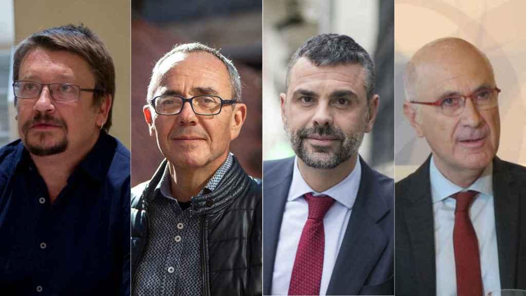 De izquierda a derecha: Xavier Domènech, Joan Coscubiela, Santi Vila y Durán i Lleida.