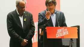 Puigdemont y Torra, durante su rueda de prensa en Bruselas