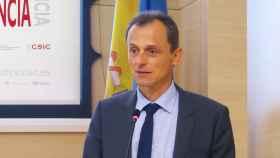Pedro Duque en la inauguración de la Casa de la Ciencia del CSIC en Valencia.